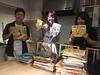 ミャンマーの孤児院や学校へ寄贈する本の選定を行いました。